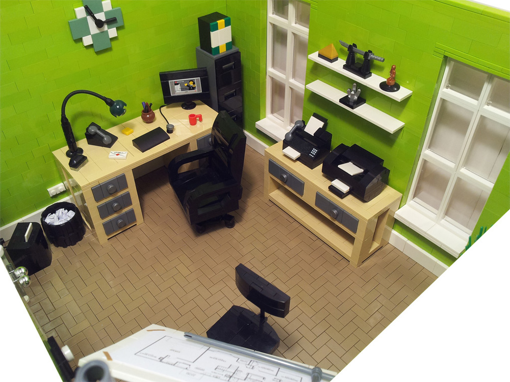 Home office bricknerd your place for all things lego and the lego fan community - Lego house interior ...