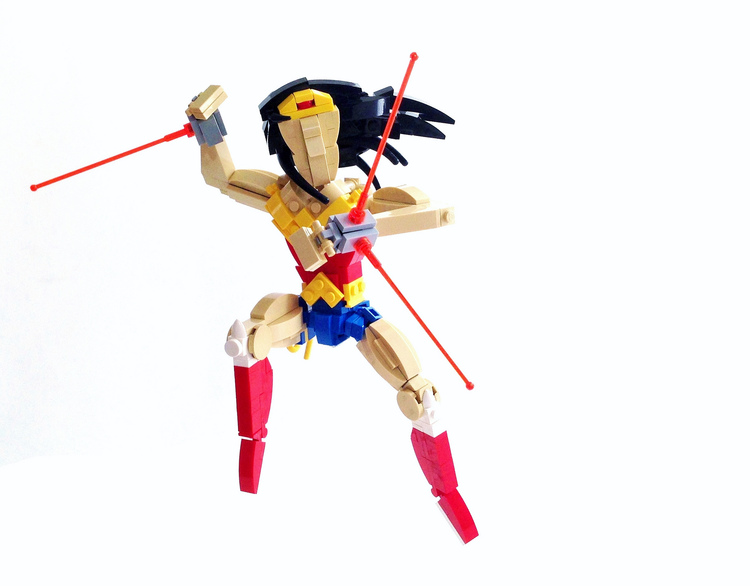 and of course were seeing an explosion of heroes in brick form which makes me all kinds of happy like this awesome moc of wonder woman by tim lydy - Lego Wonder Woman