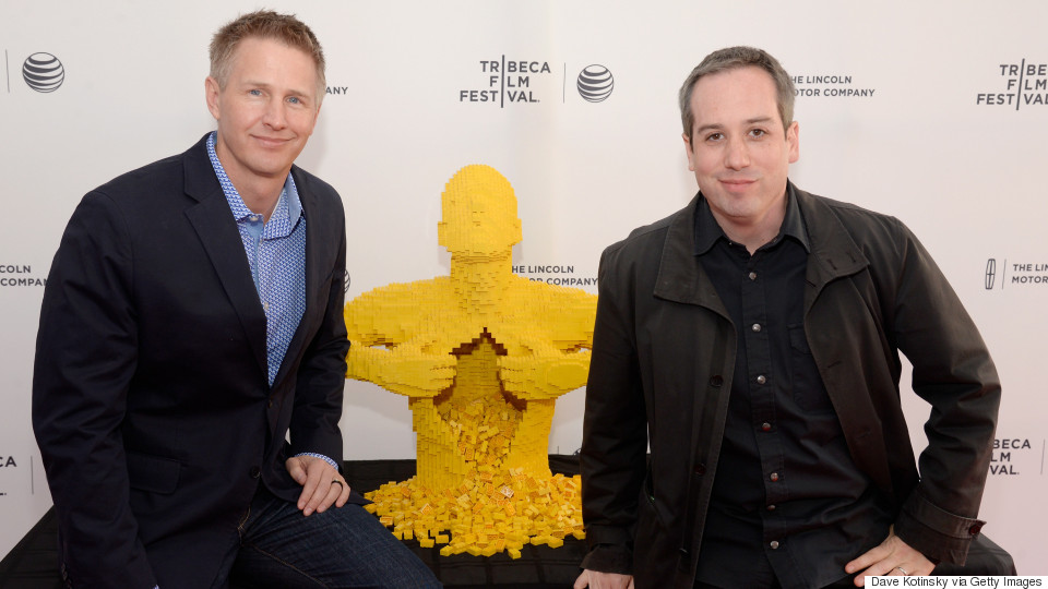 Directors Daniel Junge and Kief Davidson at their film's tribeca film festival showing in 2014.  (photo via the huffington post)