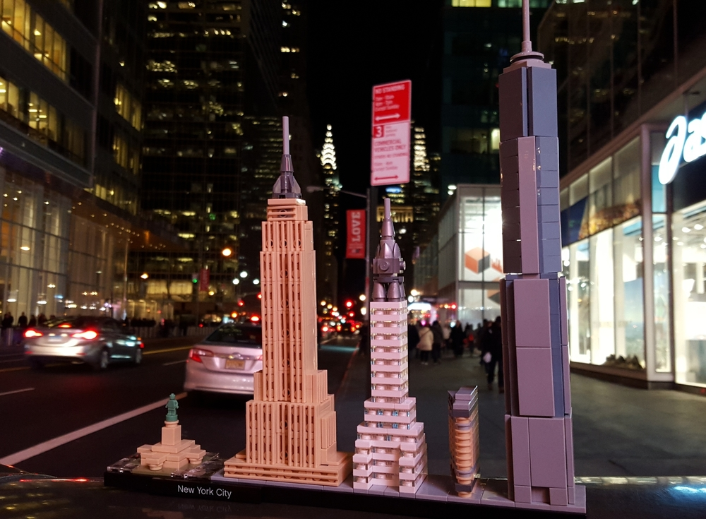 lego architecture new york. In The Background Actual And Far More Expensive Chrysler Building Lego Architecture New York