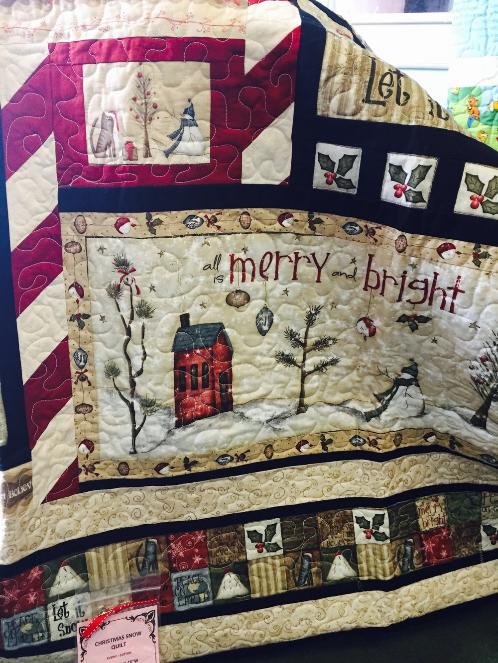 Merry and Bright Christmas Quilt Handmade