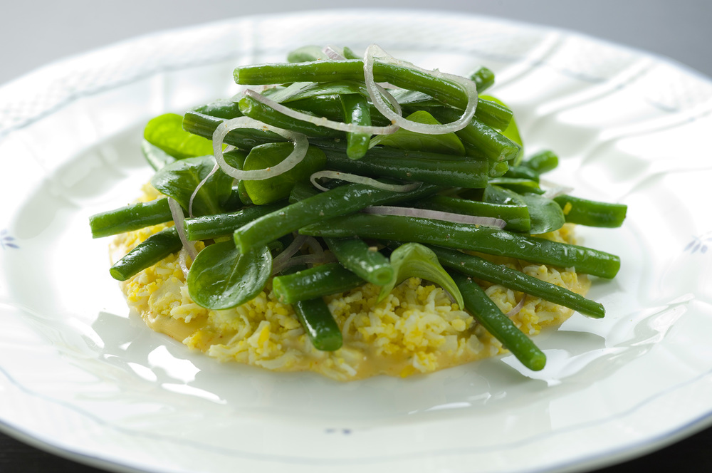 Green Bean Mimosa Salad