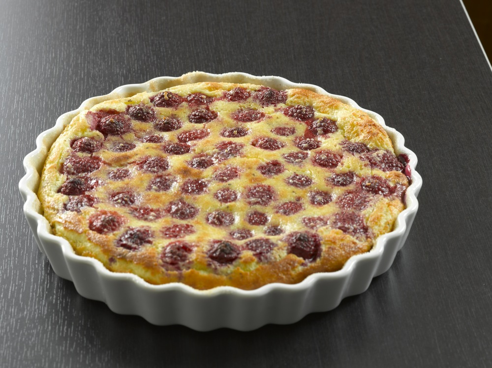 Clafoutis with Vanilla Ice Cream