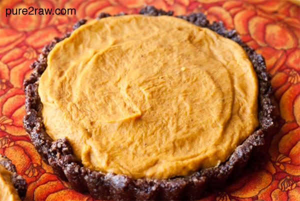 Raw Chocolate Pumpkin Pie