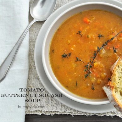 Vegan Tomato Butternut Squash Soup , Bueno Vida