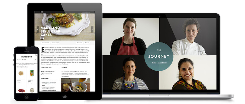 Did we mention that our online cookbooks are optimized for use on mobile and tablet? Check out the   The Journey   and   Laurent Gras: My Provence  .