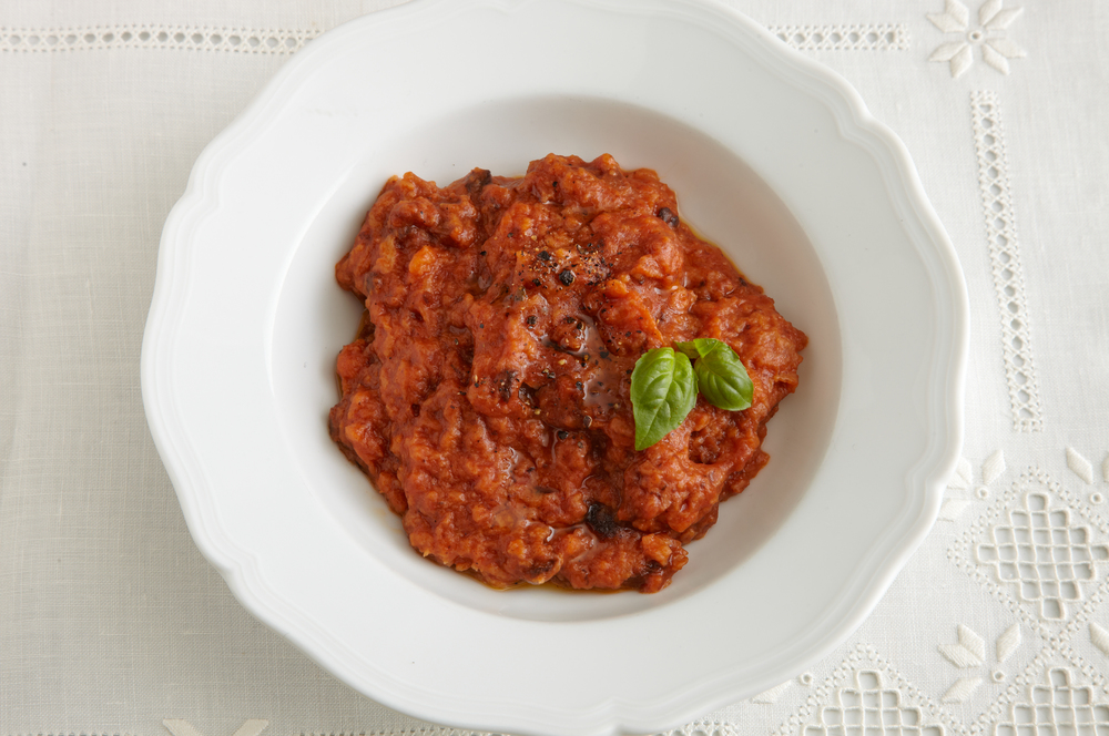 Pappa al Pomodoro  : A rustic Tuscan tomato stew thickened by bread and enhanced by freshly cracked black pepper and fruity extra virgin olive oil.