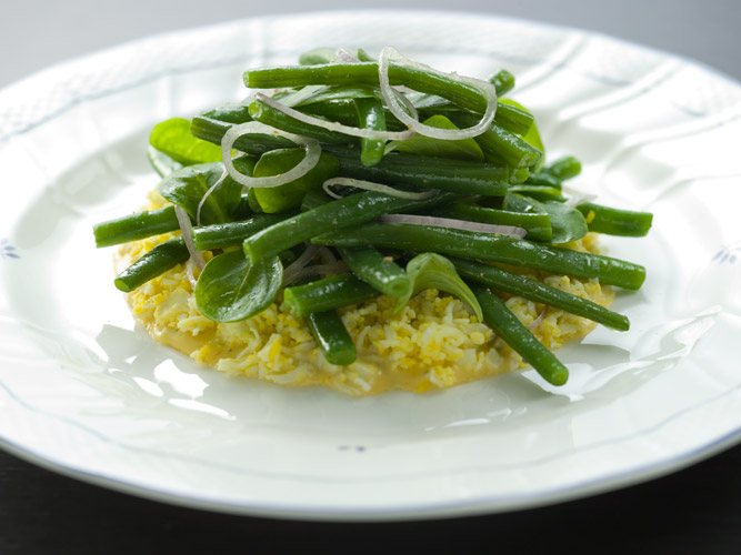 Green Bean Mimosa Salad