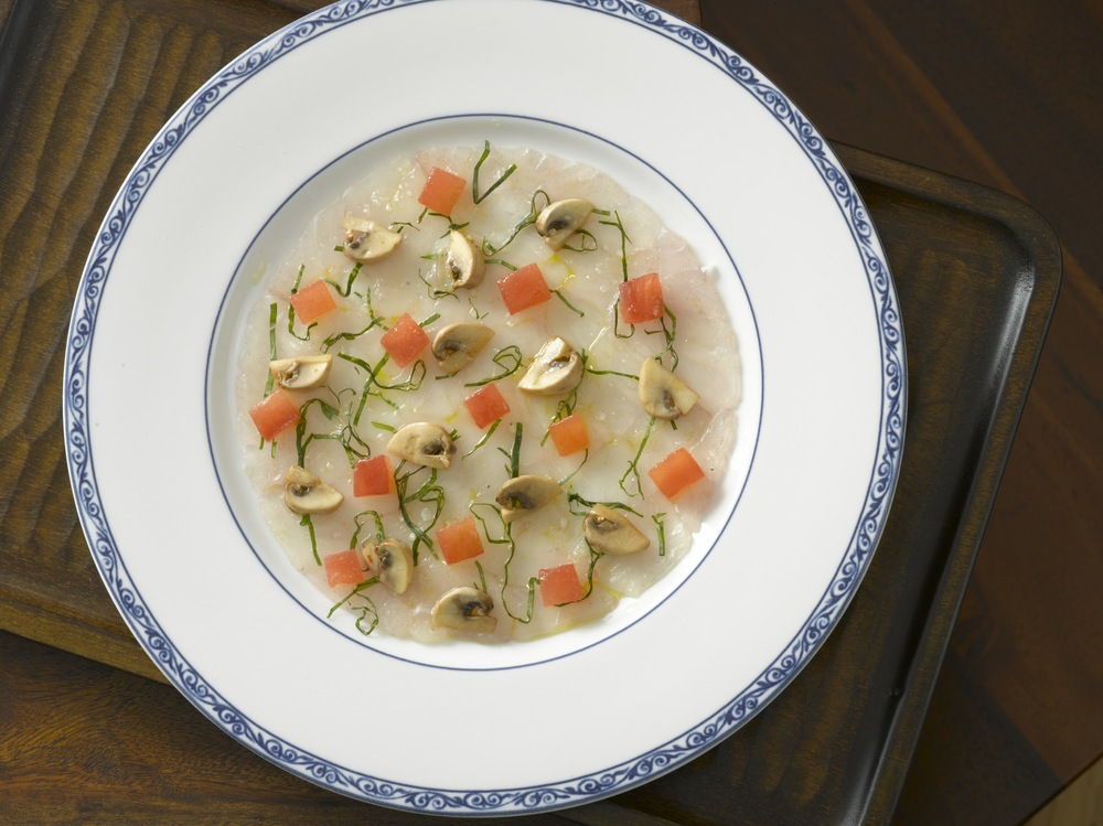 Snapper Carpaccio with Pickled Mushrooms