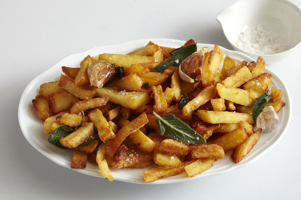 Patate Fritte  , Italian french fries with sage and garlic