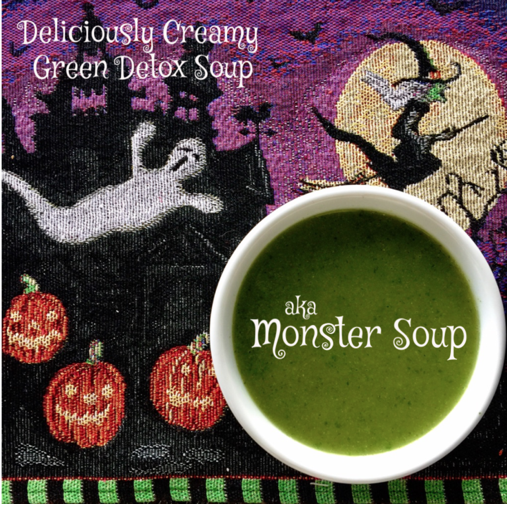 Deliciously Creamy Green Detox Soup aka Monster Soup