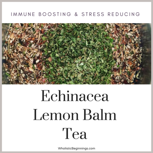 Immune Boosting & Stress Reducing - Echinacea Lemon Balm Tea