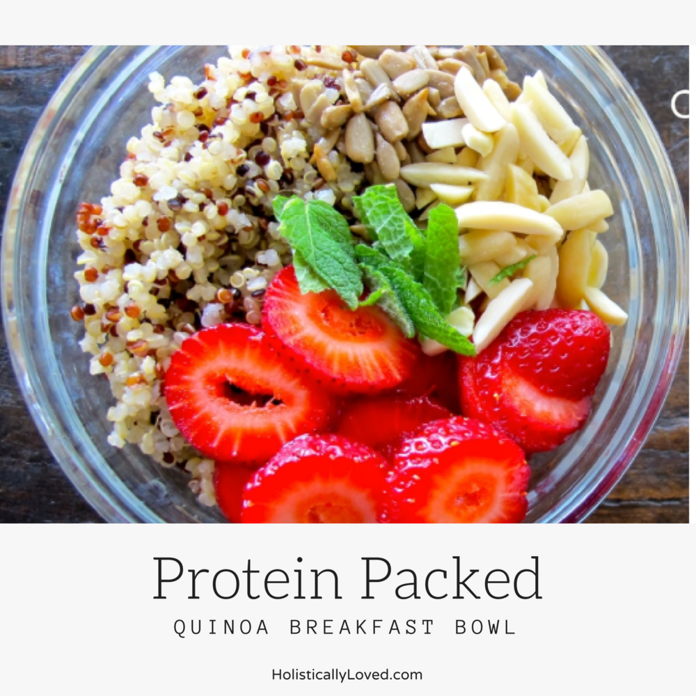 Protein Packed Quinoa Breakfast Bowl