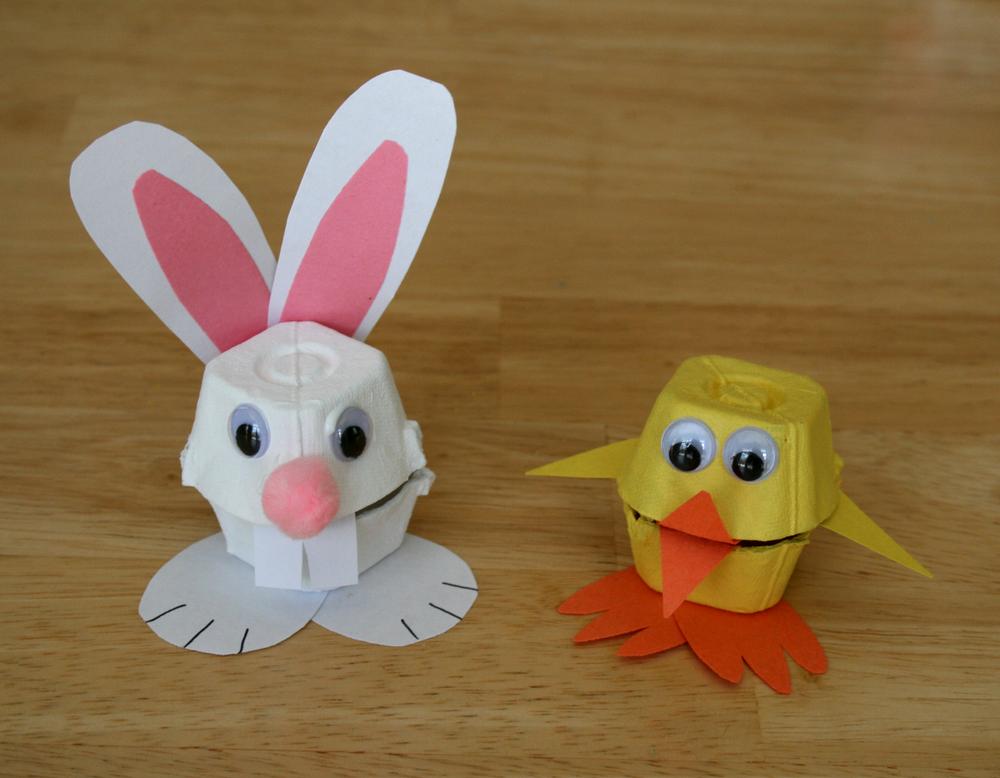 Easter egg carton craft — a mommy s creative binge