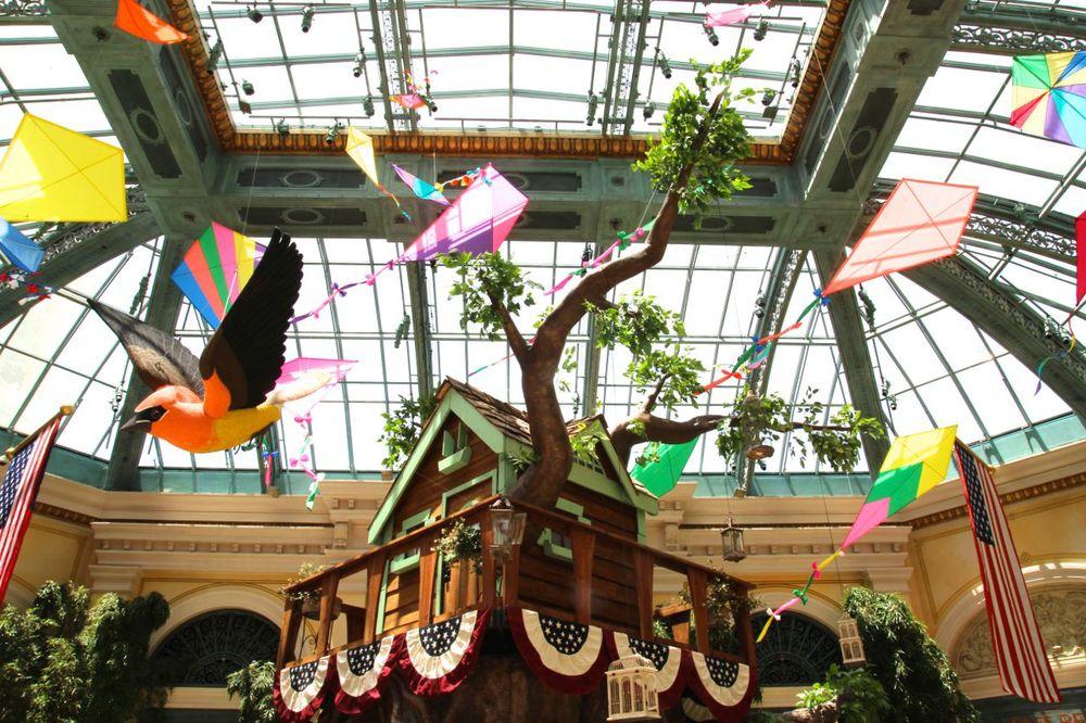 The atrium at the Bellagio.
