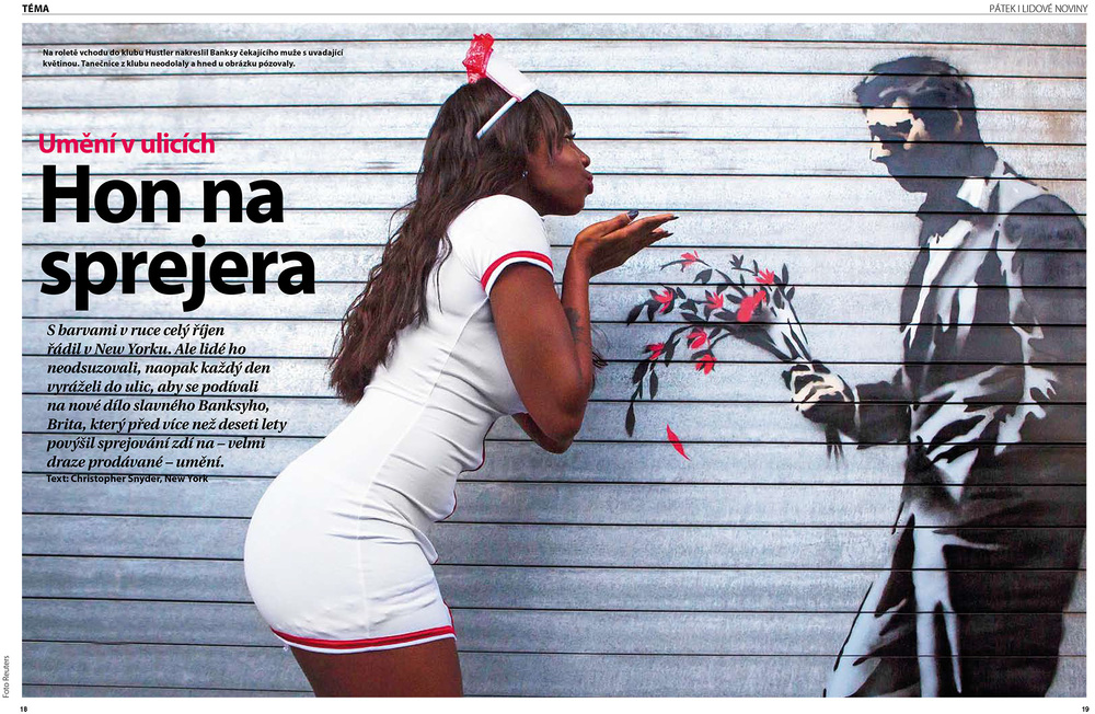 ARTICLE:  A Wrap-up of Banksy's October residency in New York for a Czech magazine -  Lidove Noviny's Patek