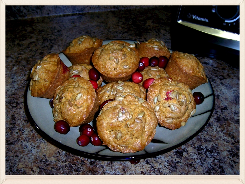 Sweet Potato Cranberry Muffins