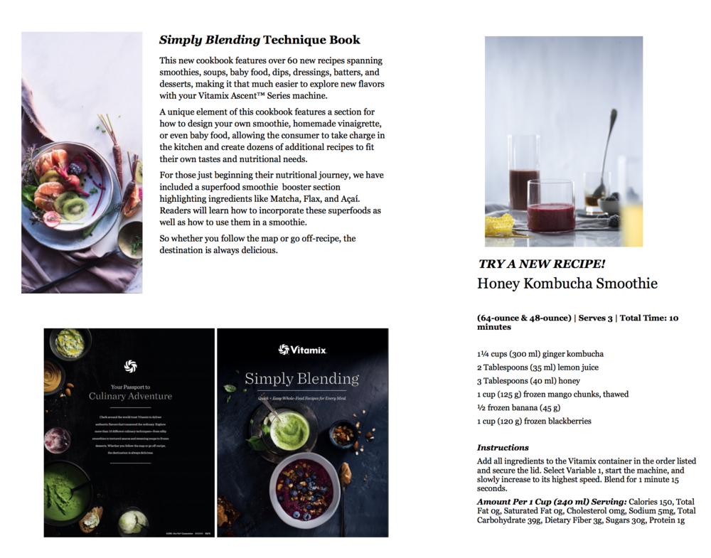 All new vitamix ascent a3500 review blending with henry every ascent series machine includes the all new simply blending recipe book that is dark and beautiful and is designed as a lifestyle book forumfinder Choice Image