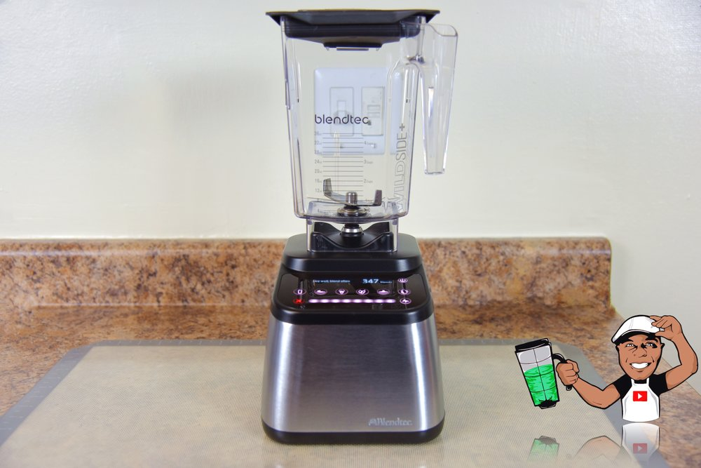 Blendtec 725 shown with 90oz Wildside Plus Jar. -