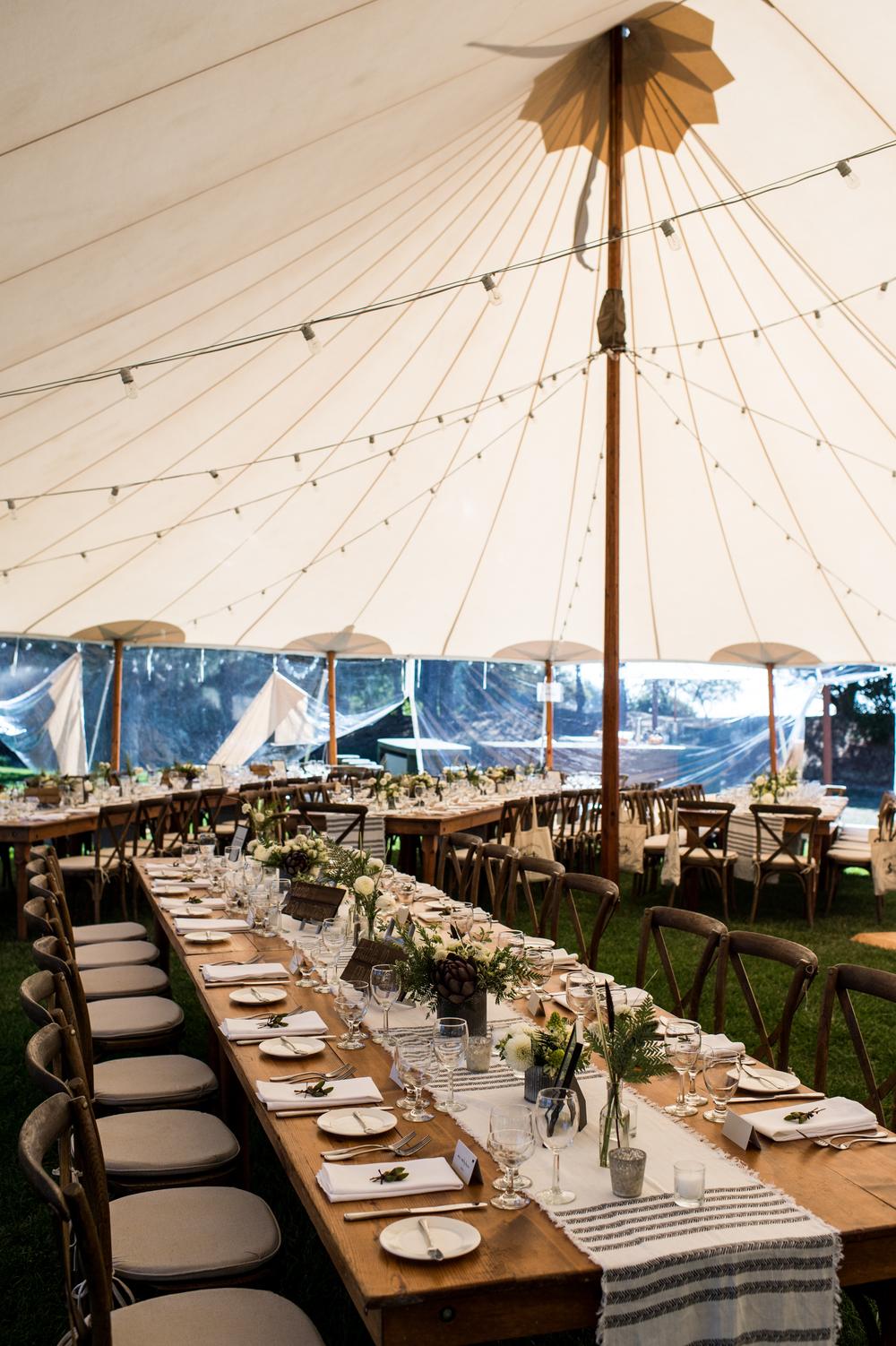 PHOTO: Theilen Photography   PAPER: Paper Caper   FLORAL:  Erica Rose Design   LINEN:  LaTavola Linen   RENTAL:  Zephyr Tents   VENUE: Costanoa Lodge