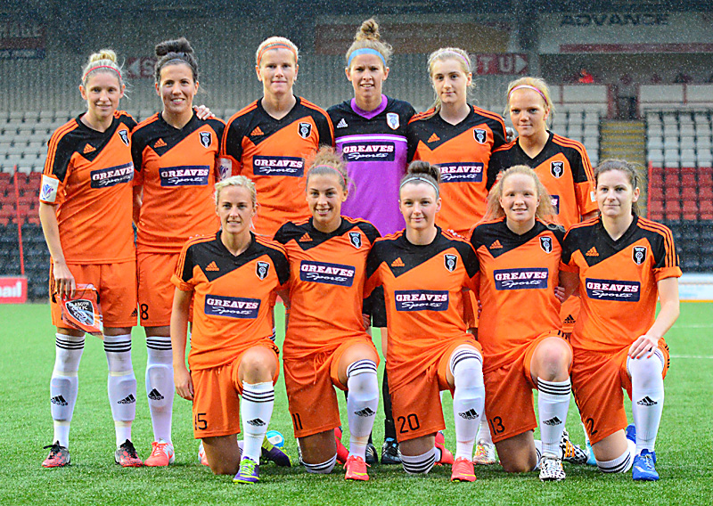Glasgow City First Eleven v Glentoran. Image Courtesy of Graeme Berry