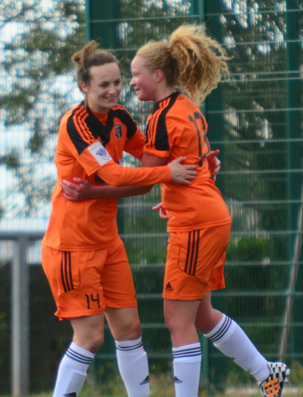 Courtney Whyte & Cheryl McCulloch Celebrate. Image by Graeme Berry.