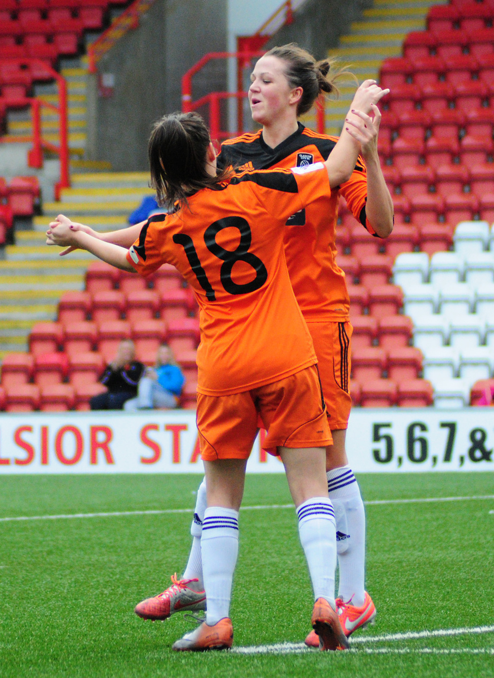 Sue Lappin celebrates. Image by Graeme Berry