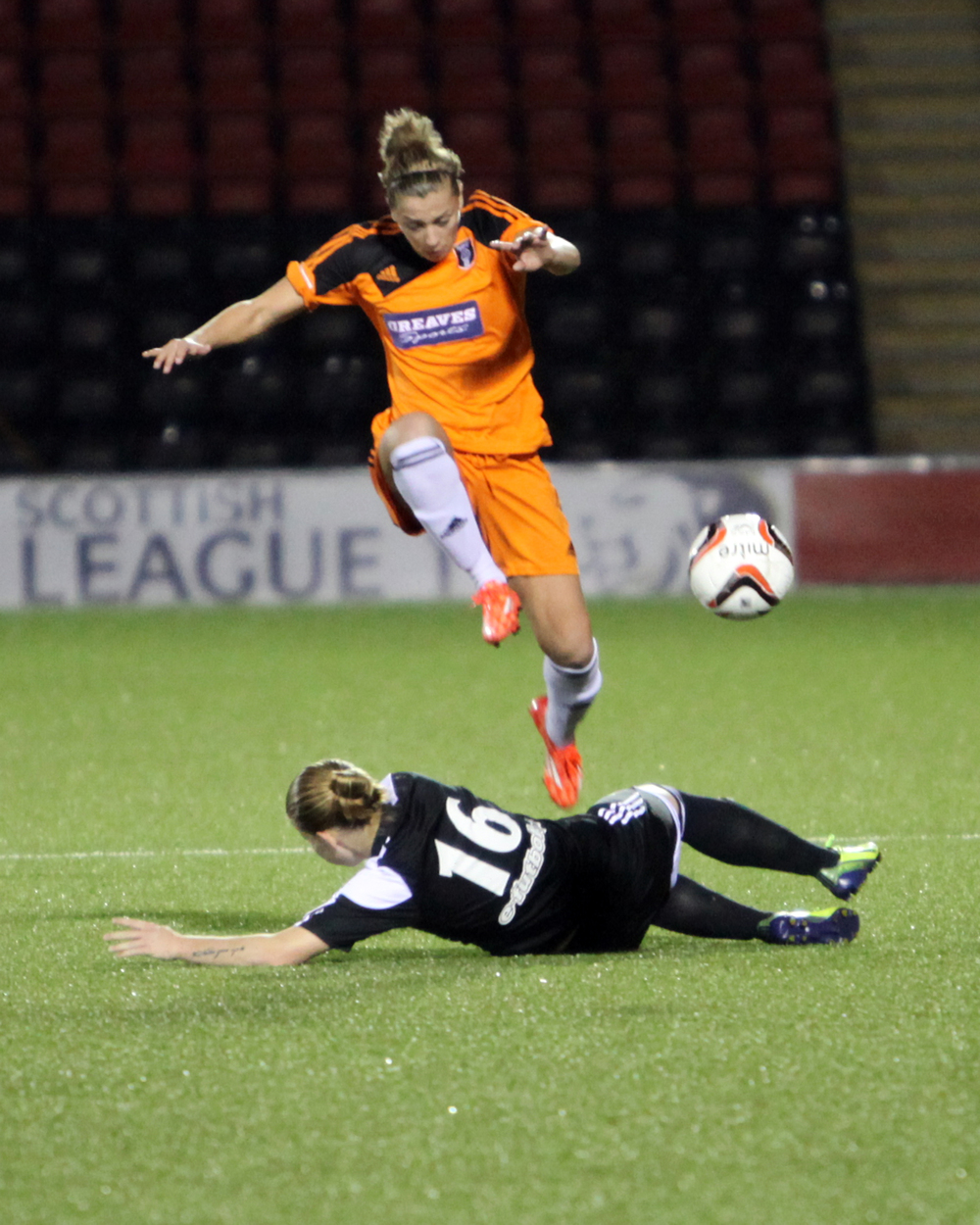 Nicola Docherty skips the challenage. Image by Andy Buist