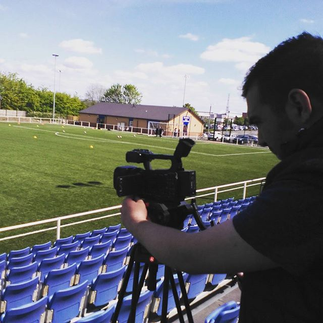 GCFC TV:  Highlights team setting up ahead of game v Rangers Ladies.