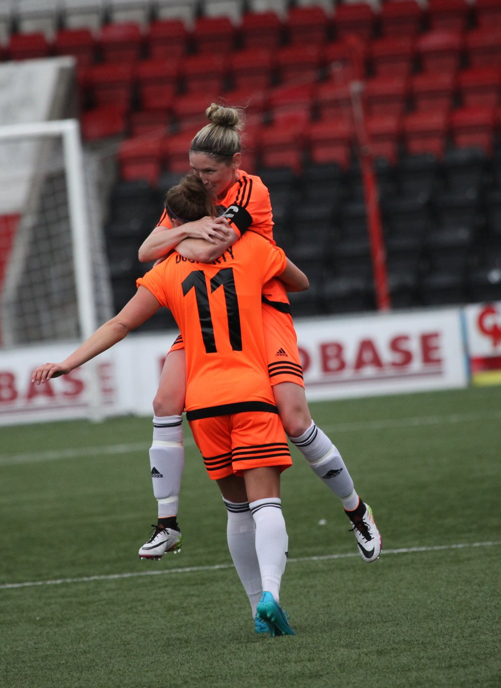 Docherty and Ross celebrate. Image by Andy Buist