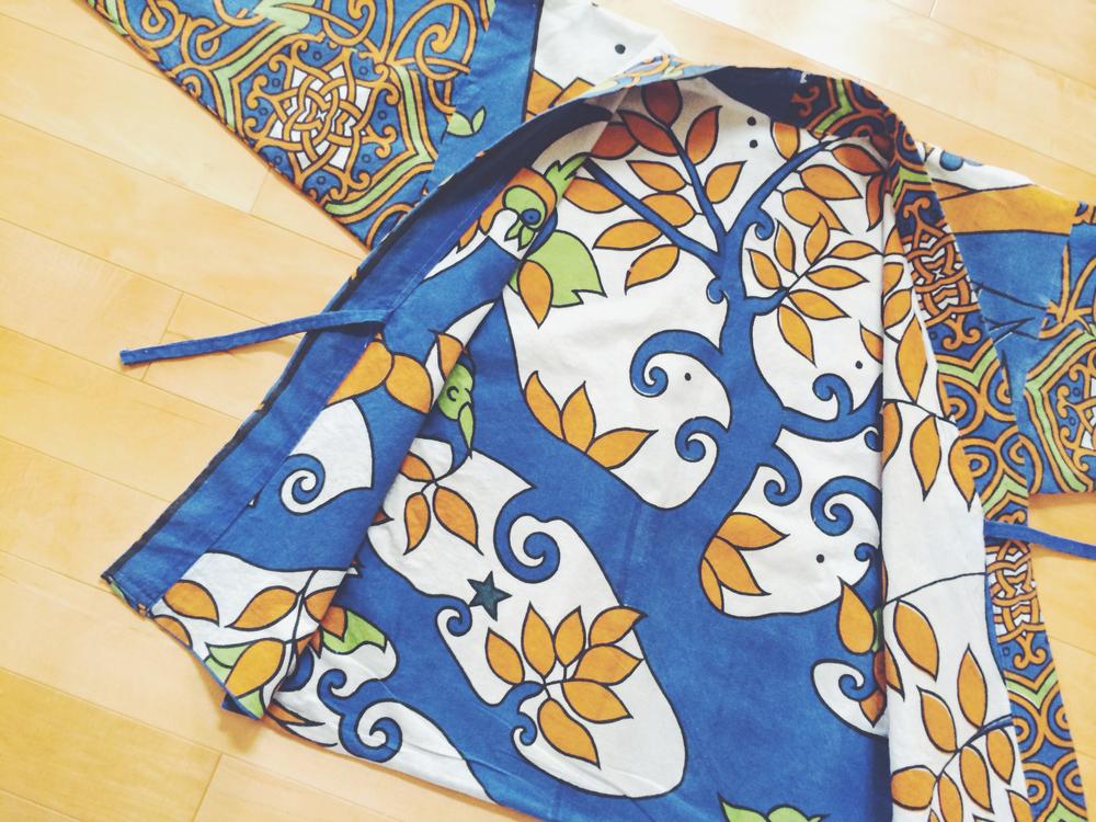 tree of life noragi front open kimono kid detail