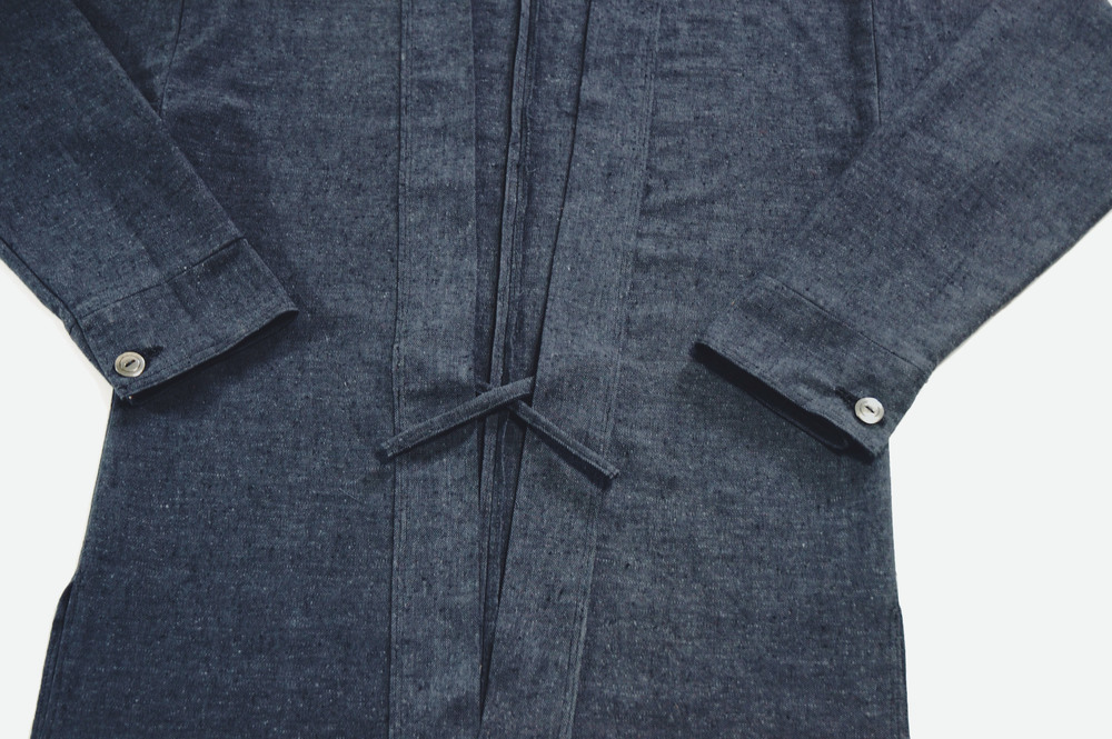 Grey Linen Custom Noragi with cuffs