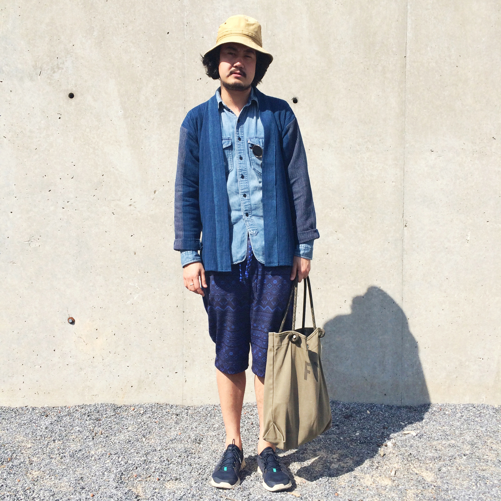 Chris in his Custom Hand-Loomed Cotton Noragi