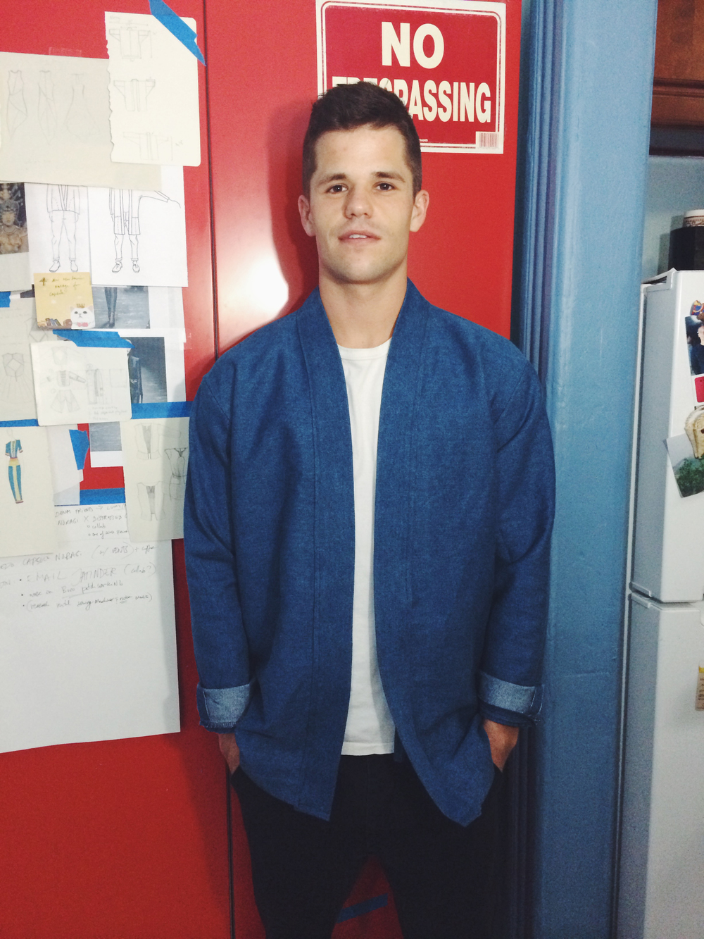 Charlie Carver in his Custom Denim Noragi.
