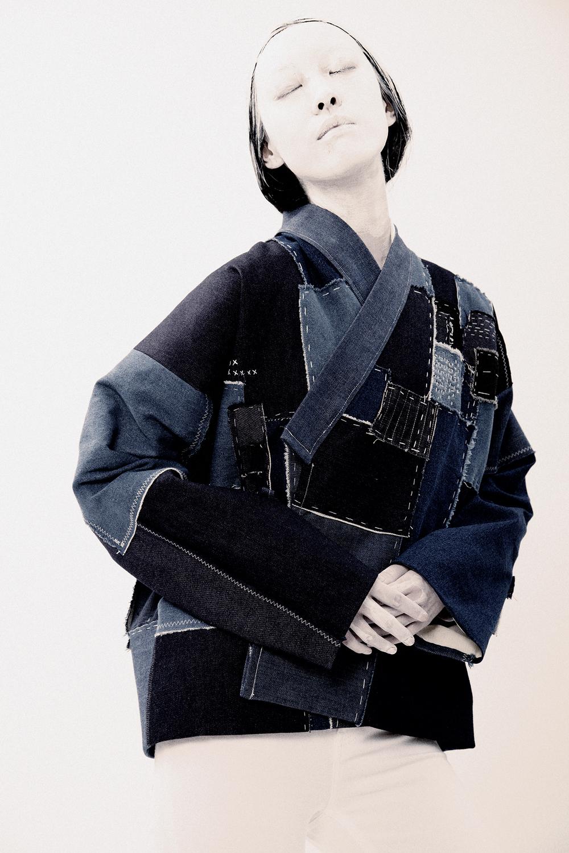 Hand-Sewn Patchwork Noragi Kimono