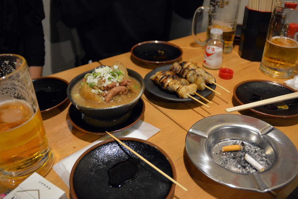 Yummy Yakitori and Sapporo beer!