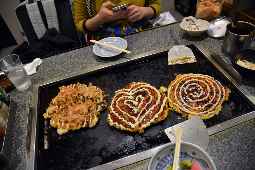 Our okonomiyaki pancakes!