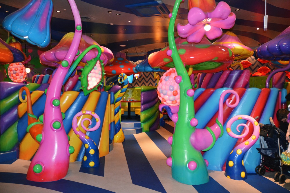 Mushroom Disco section of Kawaii Monster Café