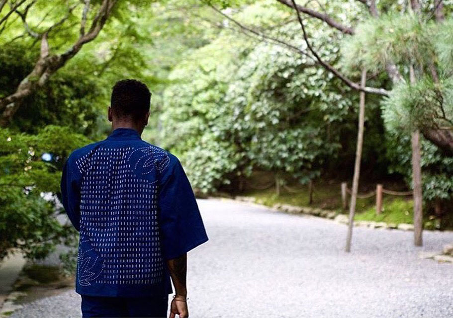 Brandon in his custom Jinbei set