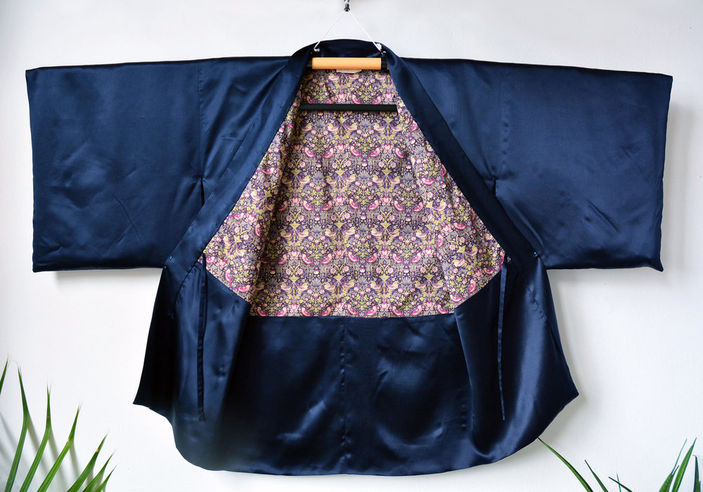 Silk Haori with Liberty Cotton Lining