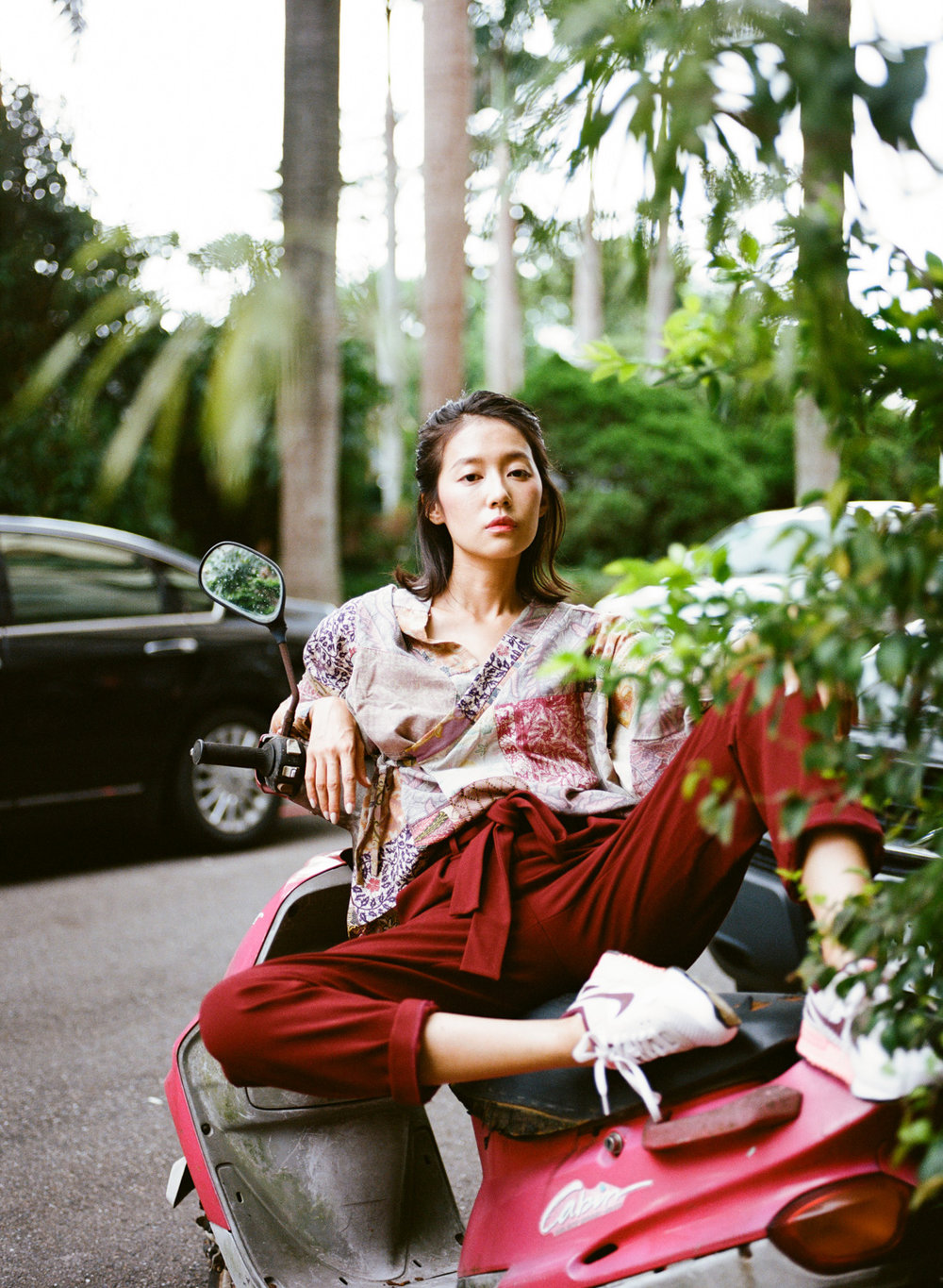 Juno in a Patchwork Hippari Kimono (Photos by Sean Marc Lee)