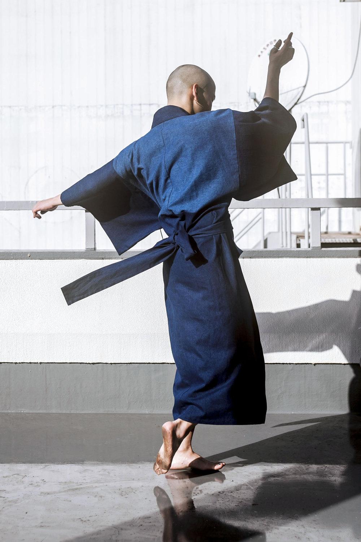 Men's Multi Denim Kimono by THE KIMONO KIDwww.thekimonokid.comI Make Kimono