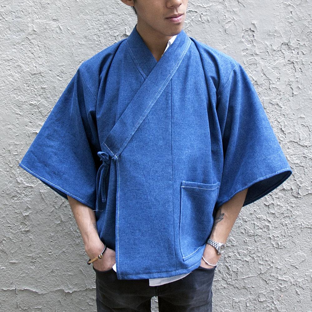 Denim Samue Kimono by THE KIMONO KIDwww.thekimonokid.com