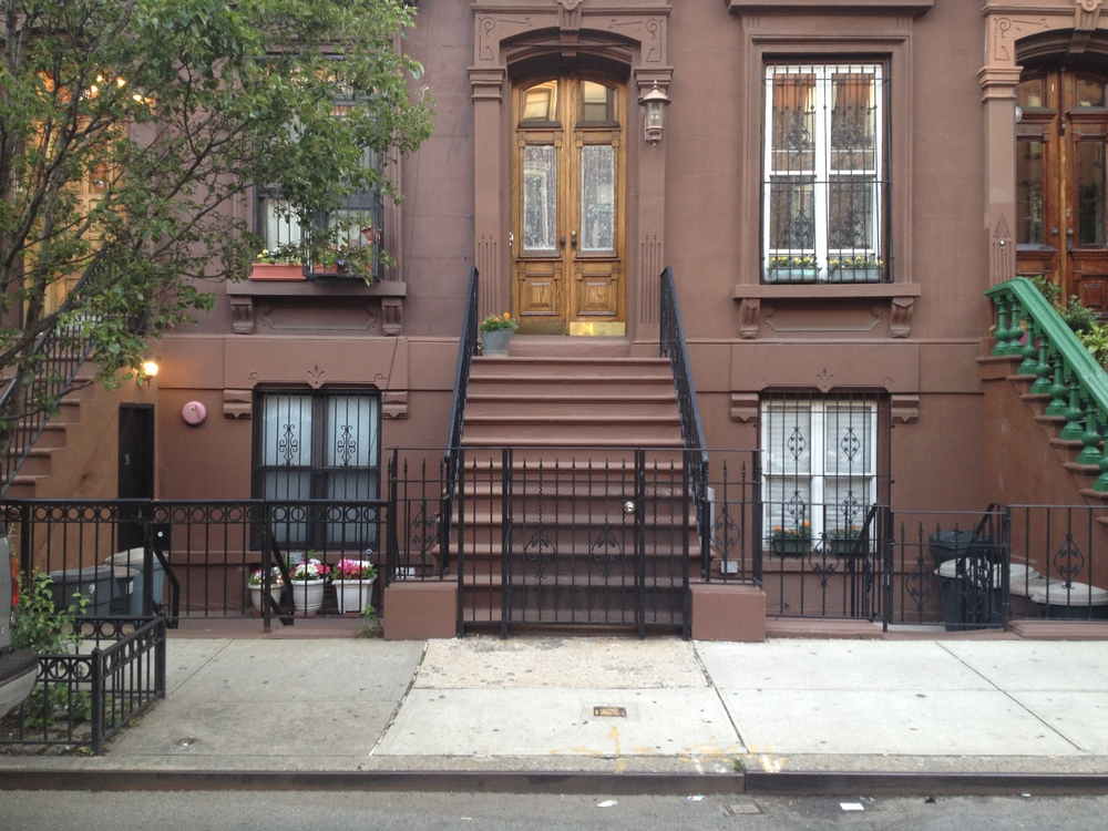 """The stoop used for """"Harlem 1958"""" - as photographed by me on May 30, 2013."""