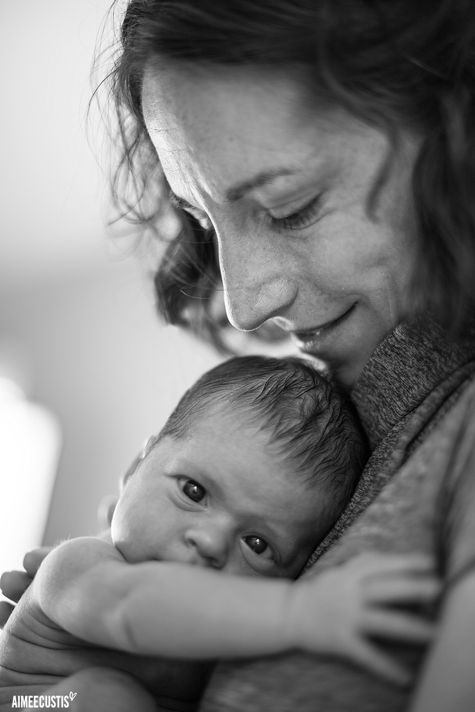 newborn baby and mom photography