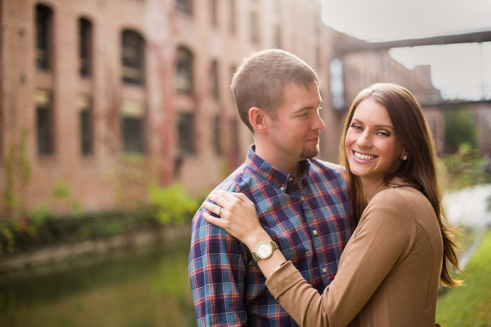 old warehouse engagement photos