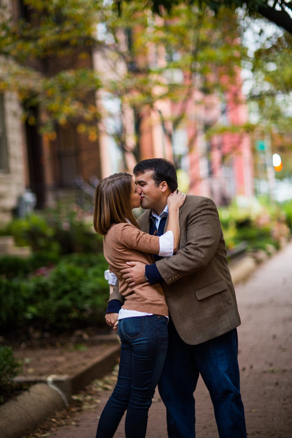 Capitol Hill rowhouse engagement session