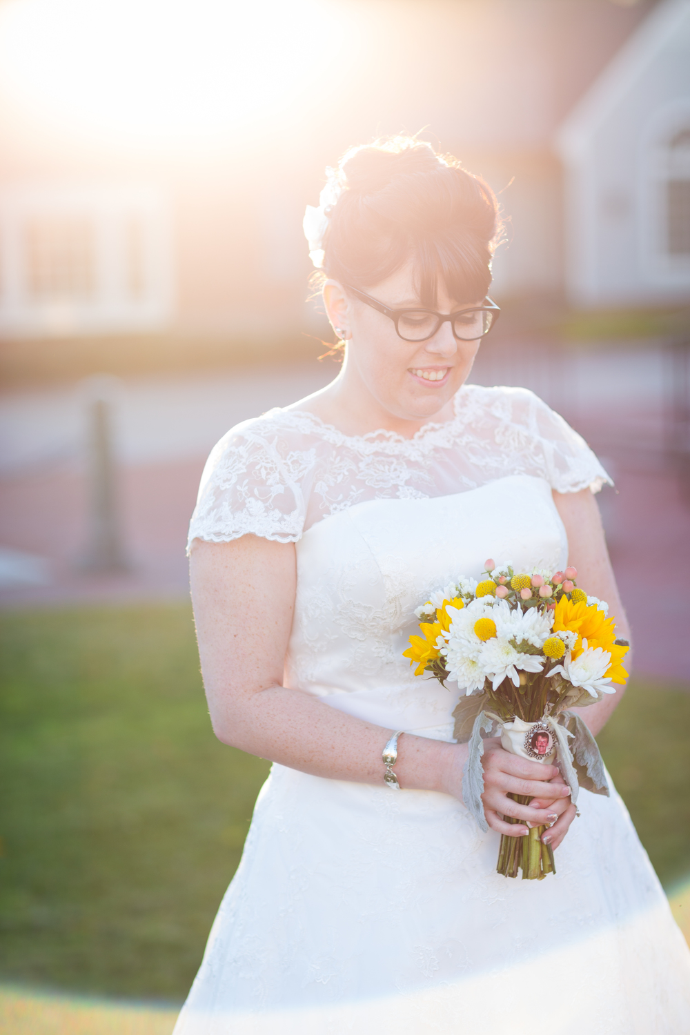 vintage bride glasses flare