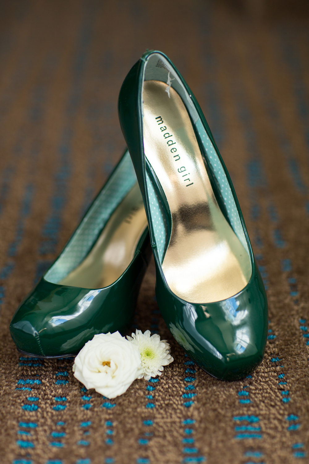 bride shoes green
