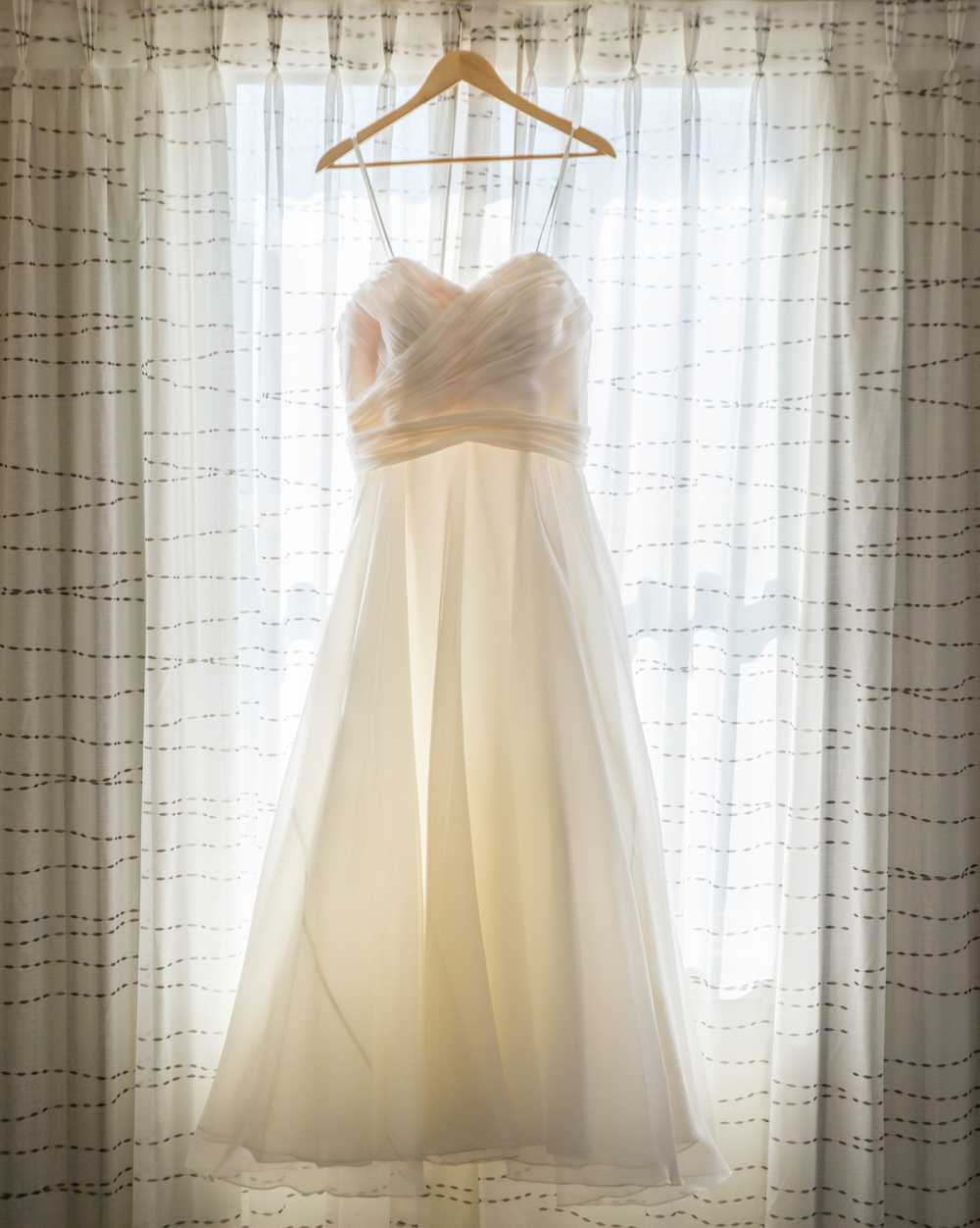 wedding dress window backlit
